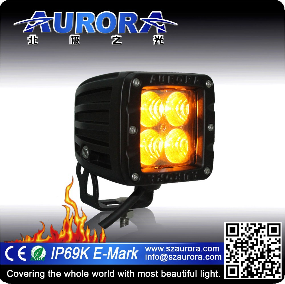 AURORA 2 inch amber led fog light off road cube work light