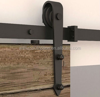 MDF sliding barn door&wooden sliding barn door hardware