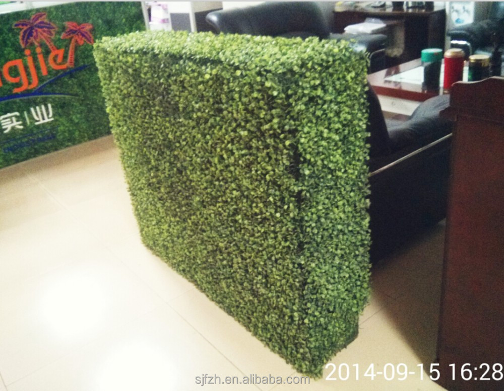 Office decoration boxwood hedge green artificial boxwood hedge
