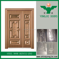 Yujie Cheap Price Door Plain Steel Security Door Steel Stainless Steel Door