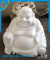 home decorative sculpture marble laughing buddha statue carving
