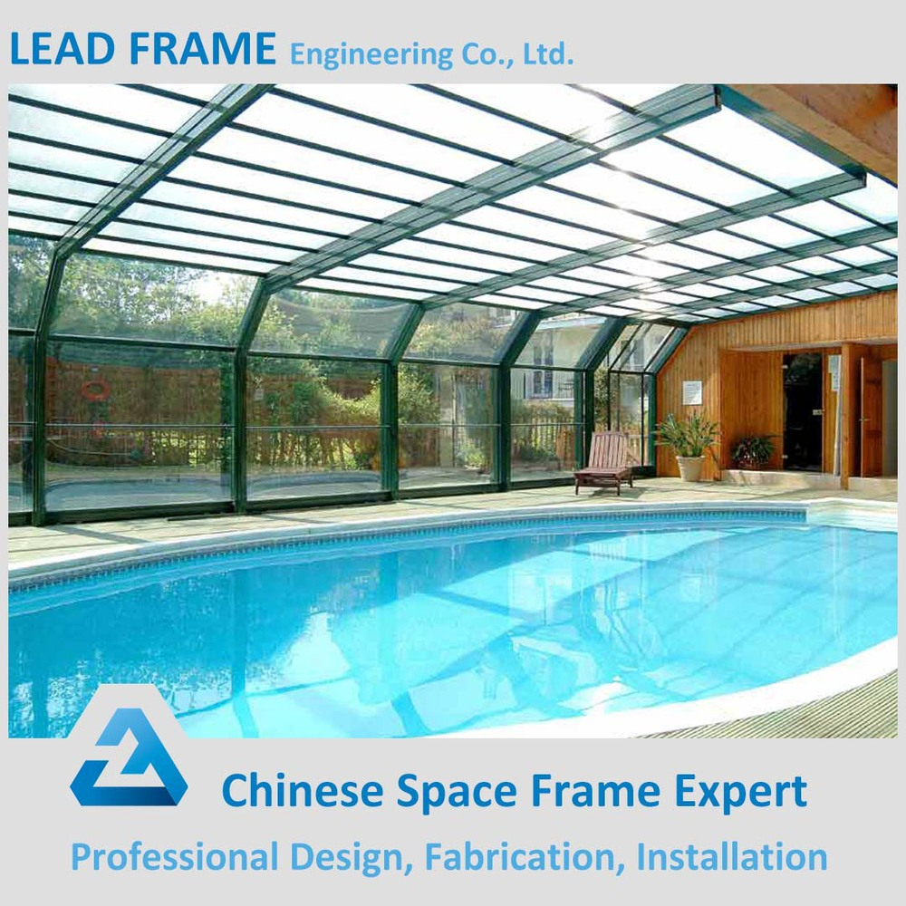 Steel swimming pool canopy made in china buy swimming for Swimming pool purchase