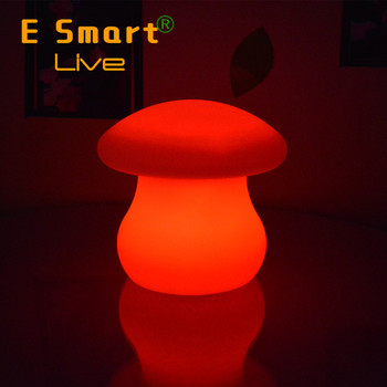 The shape of mushroom Led color changing battery operated led table lamp