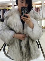 Real Raccoon fur coat /Korea Natural fur coat /Fur coat for Women Winter China Supplier