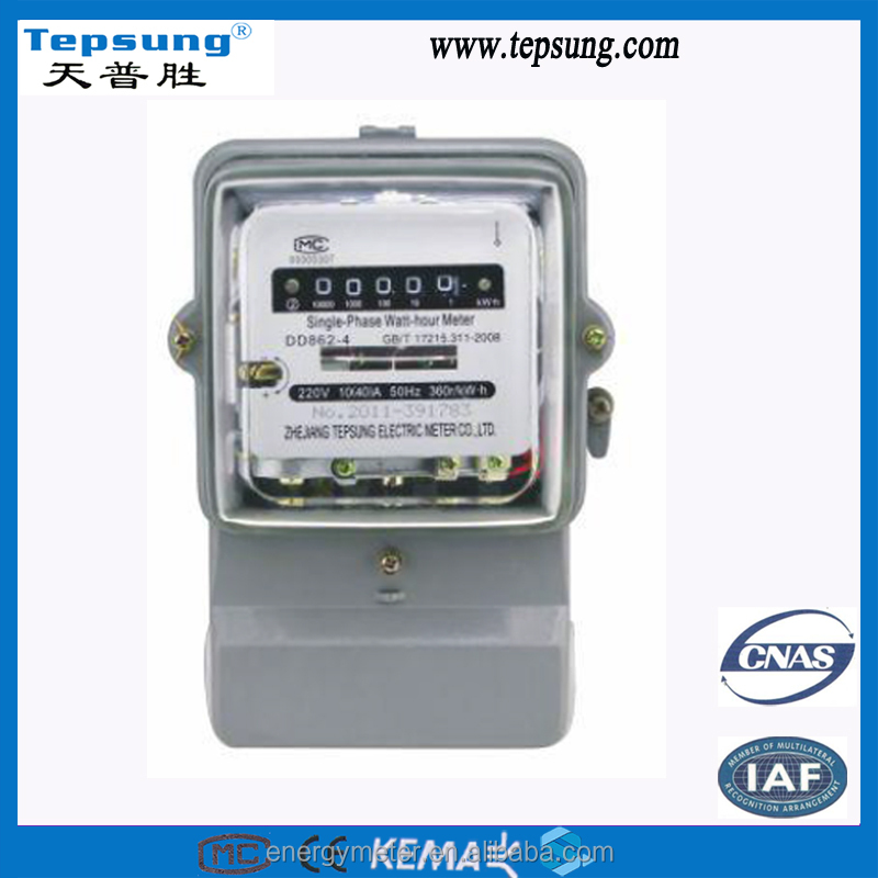 Measure Accurately CE Certified Single Phase Electromechanical kwh Meter Power Meter