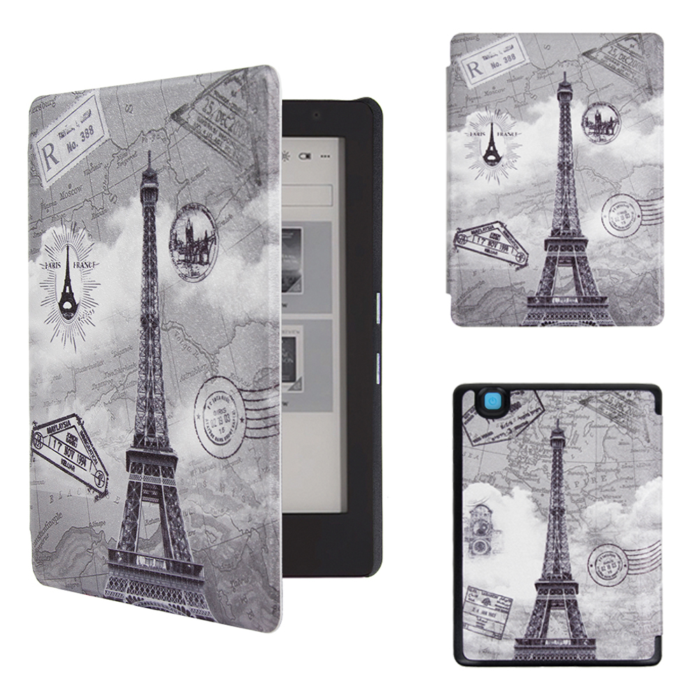New arrival smart art style painting pu leather case for 2016 Kobo aura 2 edition 2nd ereader