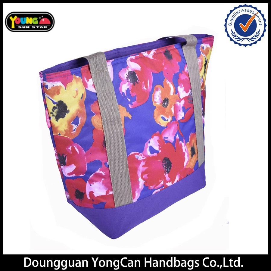 latest flower Bright colours shining shopping tote bag for women