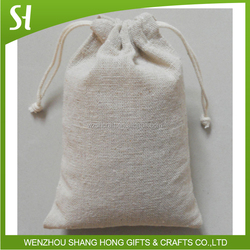 Recyclable Feature and Drawstring small linen bags