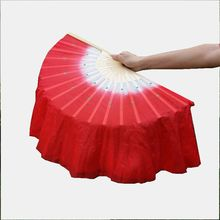 Chinese silk bamboo belly dance fans