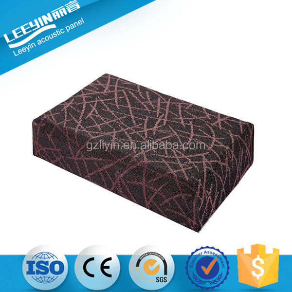 Polyester Fabric Fiber Interior Acoustic Leather Fabric Ceiling Acoustic
