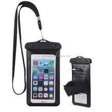 Waterproof Phone Case Cell Phone Universal Dry Bag Pouch with Headphone Jack+Lanyard+Armband For 4.5-6 inch Smartphone Devices