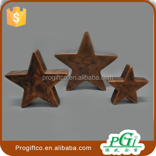 metal antique star statue for home decoration, star decoration christmas gift