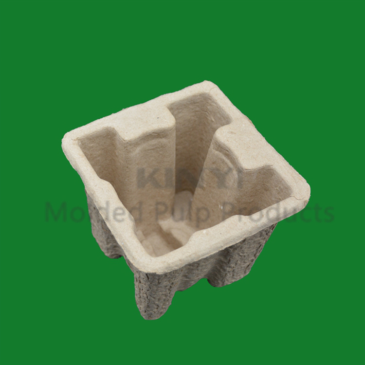 Recycled corrugated paper pulp molded hardware cushioning packaging
