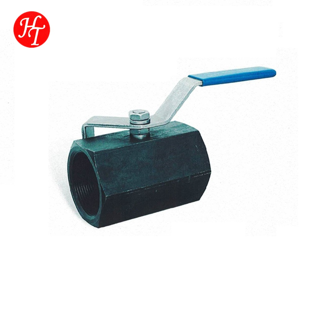 Carbon steel 1 pc ball valve with PTFE thrust washer and ss304 ball
