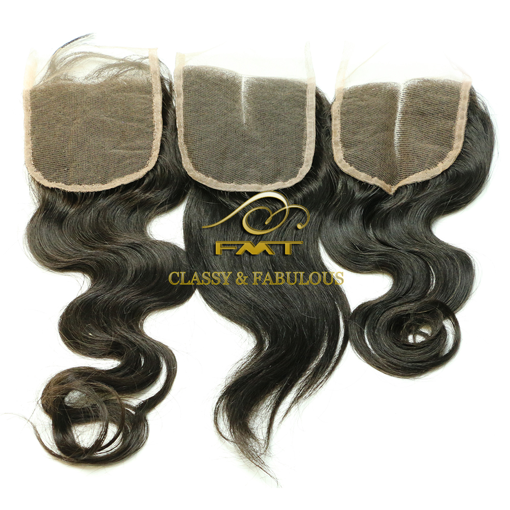 Body Wave Hair Closure Virgin Brazilian Human Hair Extension