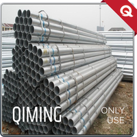 Round Pre Black Rigid Galvanized Steel Pipe for Fluid Pipe Manufacturers China