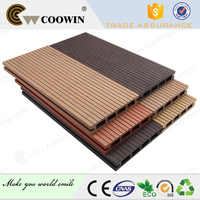 Wood cover laminated floor weather resistant 150 x 25mm composite deck boards