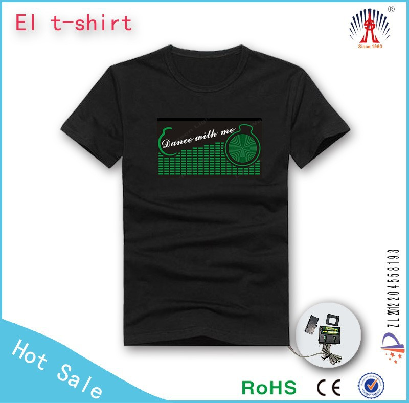 China good quality el t shirt custom logo fashion el t-shirt fashion el tshirt for party