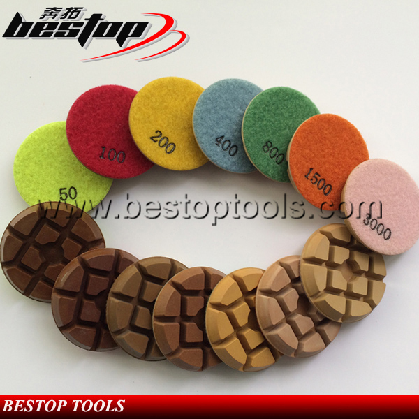 Dry Used 3 Inch 80mm Diamond Concrete Floor Polishing Pad