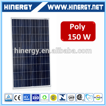 130w 140w 160w 150 watts 156*156mm 150w poly crystalline solar cell panel with sun power cells price