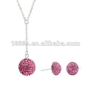 925 sterling silver crystal jewelry set ! Costume jewelry