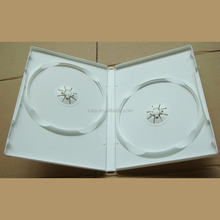 White Color Double discs Plastic Wedding 14mm DVD Case