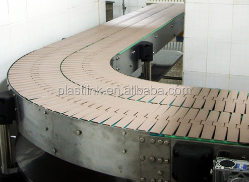 Plast Link automation plastic conveyor flat top chain for the packaging industry