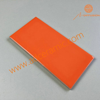 clear orange glossy mirror subway tiles 75x150mm 3x6 inch
