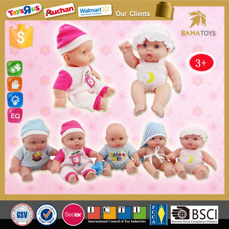 Lovely 9 inch silicone mini reborn baby <strong>dolls</strong> for sale