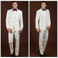 new wedding design white coat pant men suit