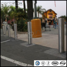 carbinox tubes circular base plate159mm diameter safety bollard with 3.5mm total height