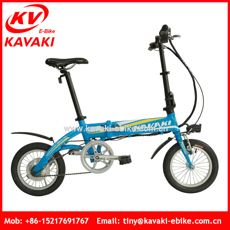 Kavaki Electric Bicycle Factory Export 14'' Mini Folding Bike Off Road For Adults