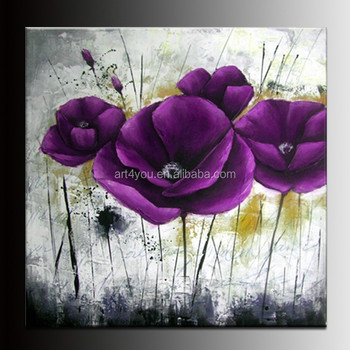 Big Flower Painting Canvas Modern Wall Decor Painting Art