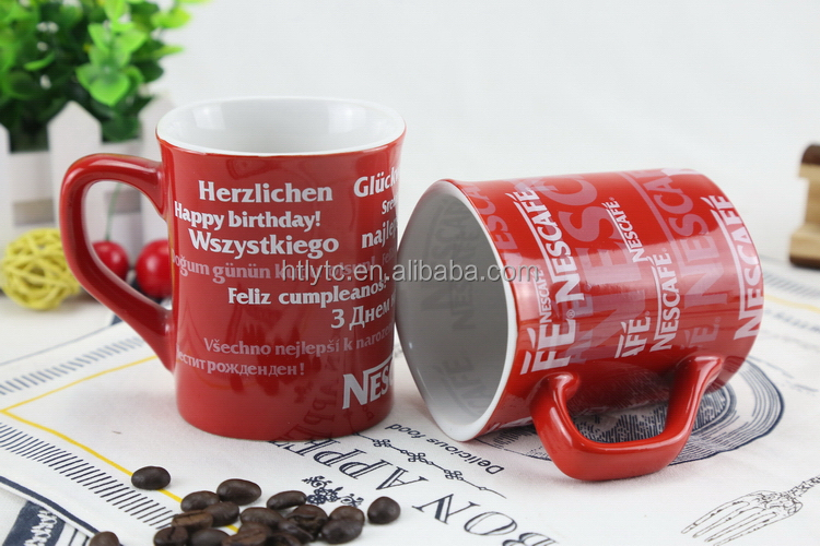 New style top quality unique ceramic shape mug