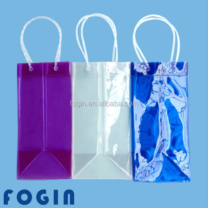 Colorful pvc ice bag for cooling wine