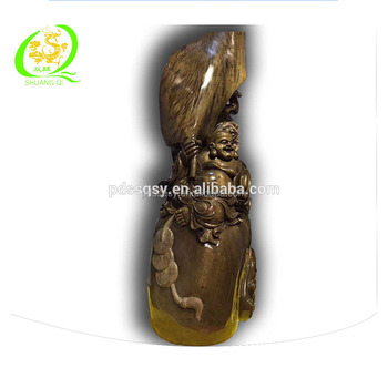 Root carving beautiful gift the statues of fortune buddha
