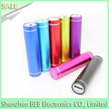 Round design 2600mah mini power bank as best gift choice