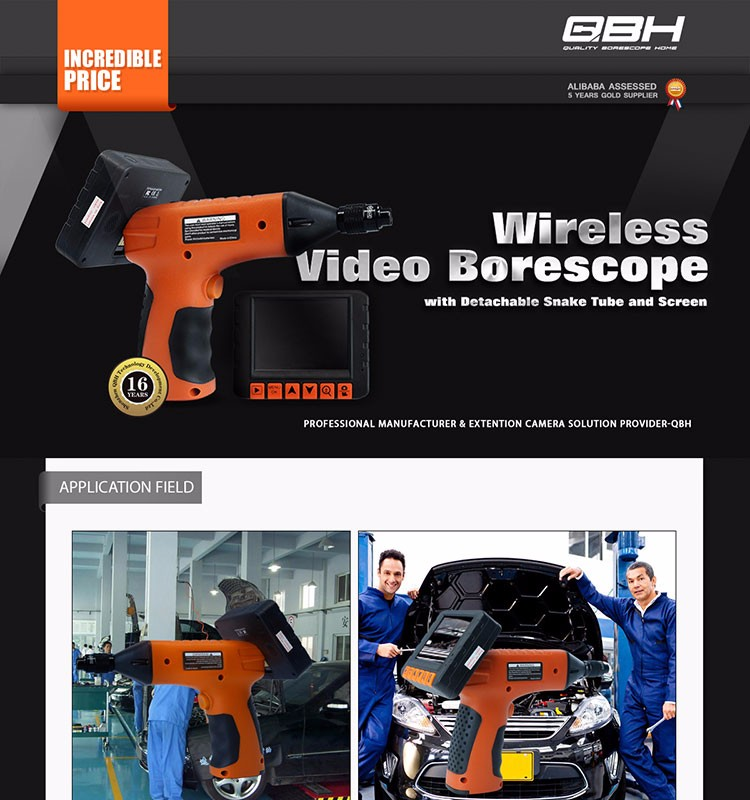 Potensic Digital Endoscope Borescope with Waterproof CMOS Camera and 3.5 inch Built-in Color LCD Screen