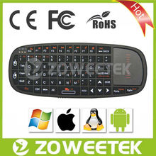 Mouse Wheel 2.4 Ghz Wireless Keyboard Tablet Keyboard With Laser Pointer