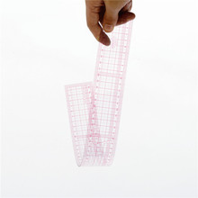 China Kearing brand 5*50cm plastic transplant flexible sandwich line grading garment ruler for fashion design