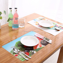 3d table mat for cartoon display,kids favorite placemats disposable tray mats fruit and vegetable