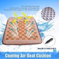 CAS2-12-3 12V Air Breathing Cooling Car Chair Seat Cushion Pad Cover With Fan
