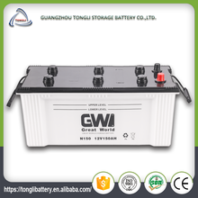 150ah 12v 145G51 dry charged korea design powerful battery N150 best car battery