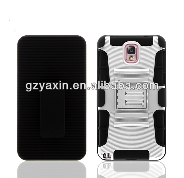Holster Belt Clip Kickstand Cover Case for Samsung Galaxy Note 2,3 Layer Shockproof Case for Samsung Galaxy Note 2