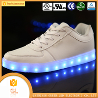 China manufacturer high quality lighting flashing luminous men's half shoes