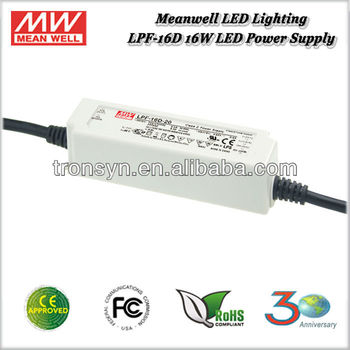 Meanwell LPF-16D-48 (16W 48V 0.34A) 16W Single Output Switching Waterproof LED Driver IP67