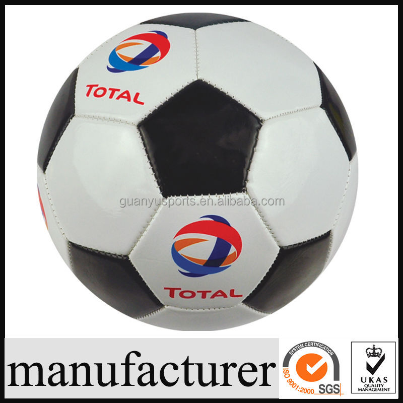 Machine Stitched PVC Synthetic Leather machine stitched glowing soccer ball GY-B389