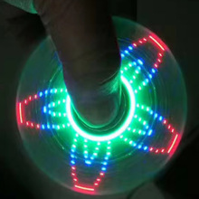 New factory outlet led fidget pro spinner,Lighting glowing logo Customized led air spinner fidget toy