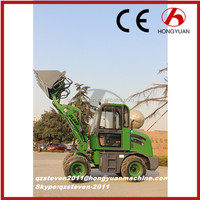 0.8T mini garden tractor loader with snow shovel price, construction equipment, wheel loader for sale with CE made in china 2016