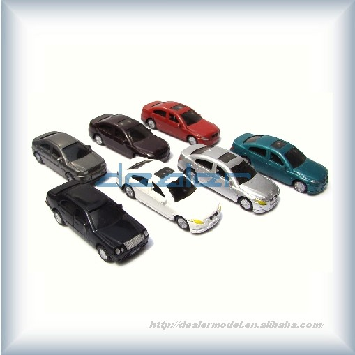 Model scale car with led light /architecture model car /ABS car /small plastic toy car
